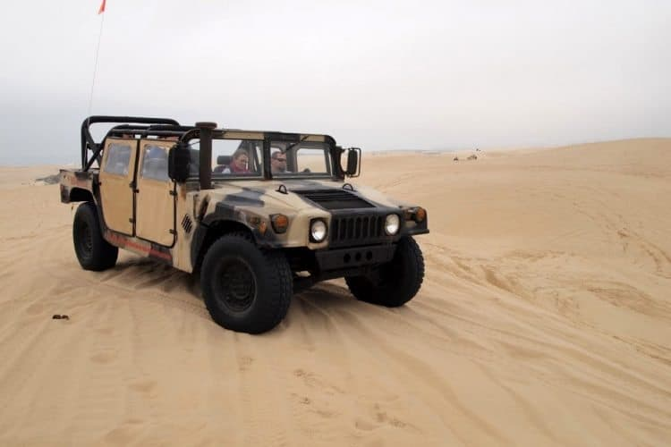 One of Pacific Adventure's Humvees in the Oceano dunes.