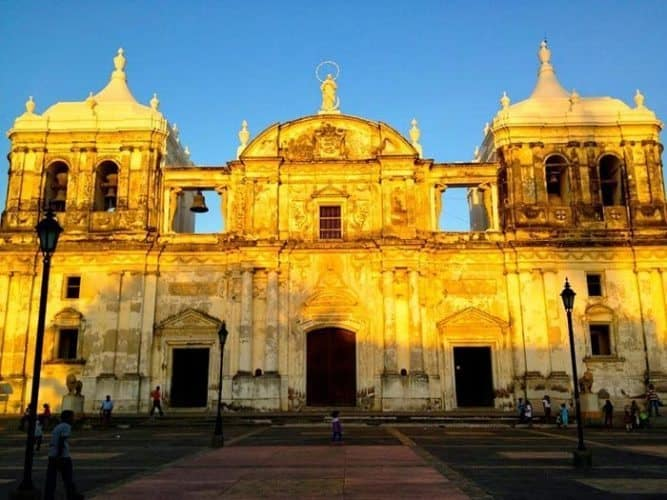 Basilica Cathedral of the Assumption of the Blessed Virgin Mary in Leon.