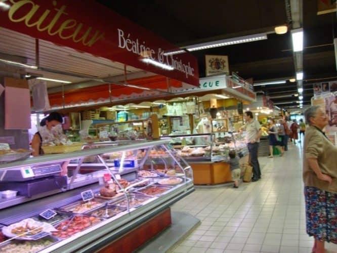 A public market in France.