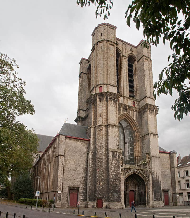 St Michael's Church in Ghent Belgium with the unfinished tower. Johan Bakker photo.