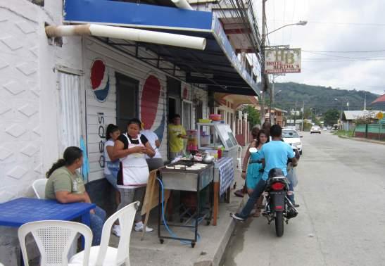 The baleada shop in Tela.