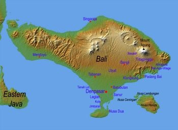A map of Bali