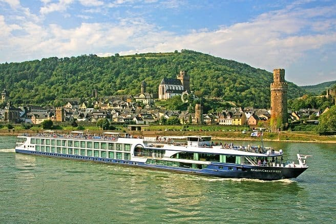 A river cruise ship plying the Rhine River in Germany. Avalon Waterways photo.