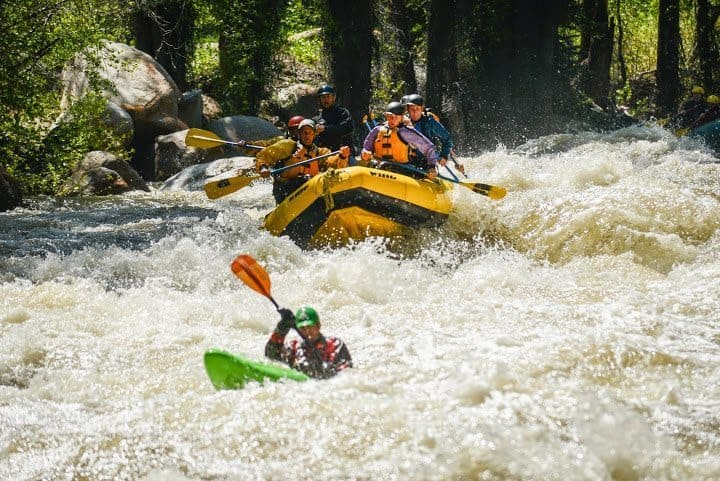 Rafting on the Roaring Fork. Red Mtn Productions photo.