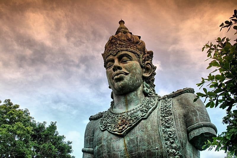 The highest statue in Bali, Garuda Wisnu Kencana. Sunset Bali Tour photo.