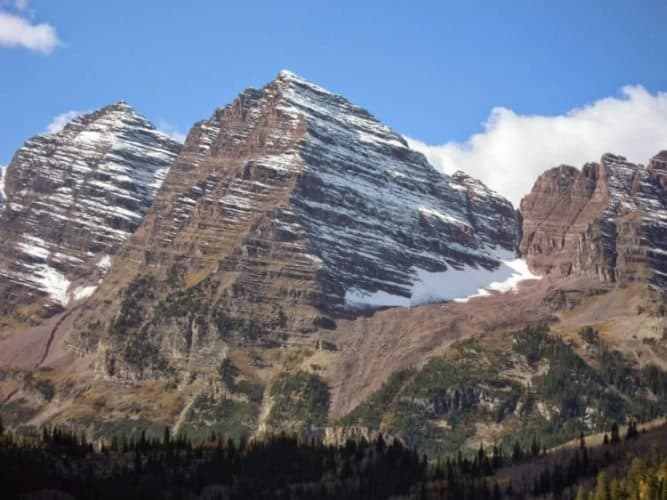 Maroon Bells, with jaw-dropping views near Aspen.