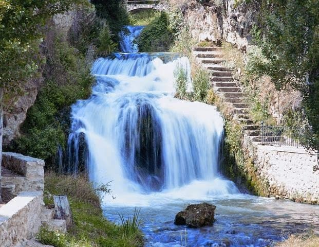 Natural waterfall in the center of Trillo
