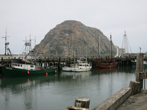 The famous Morro Rock, that was once blasted to get building materials for local projects.