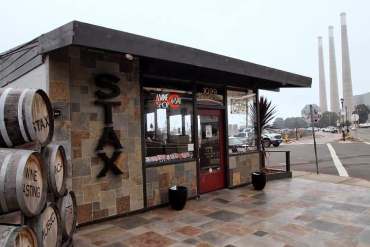 Stax Wine Bar on the Embarcadero, Morro Bay.
