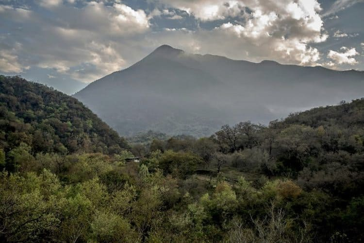The mountains that surround Monterrey, Mexico