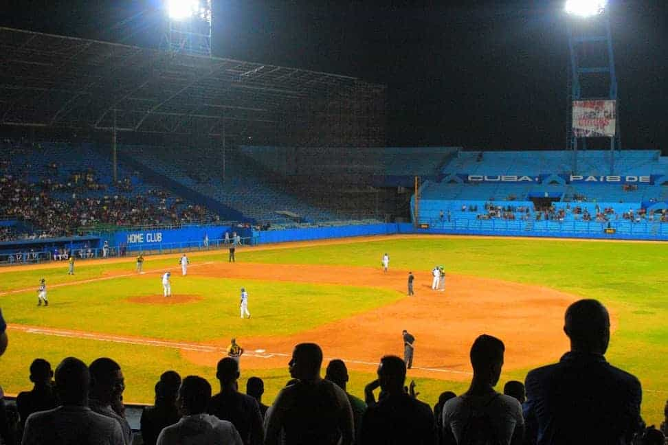 Watching a baseball game is a good way to experience Cuban culture. Daniel Maldonado photos.