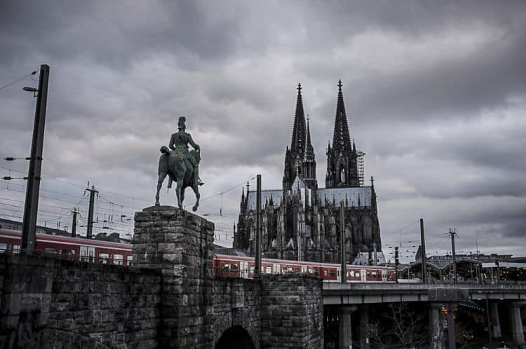 The Cologne Cathedral in Germany.