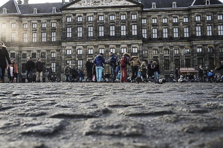 The square in Amsterdam, Netherlands.