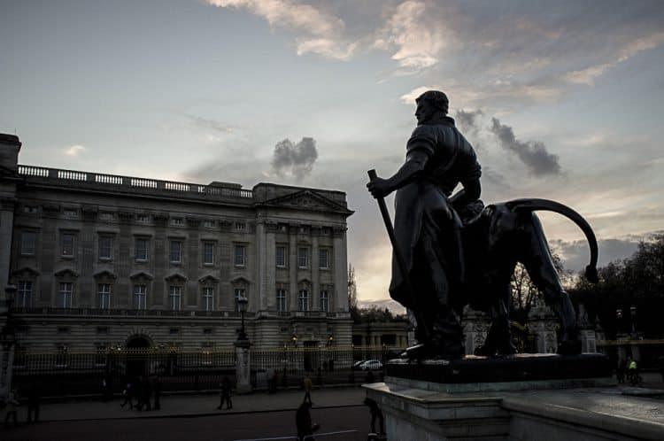 Buckingham Palace in London, England.
