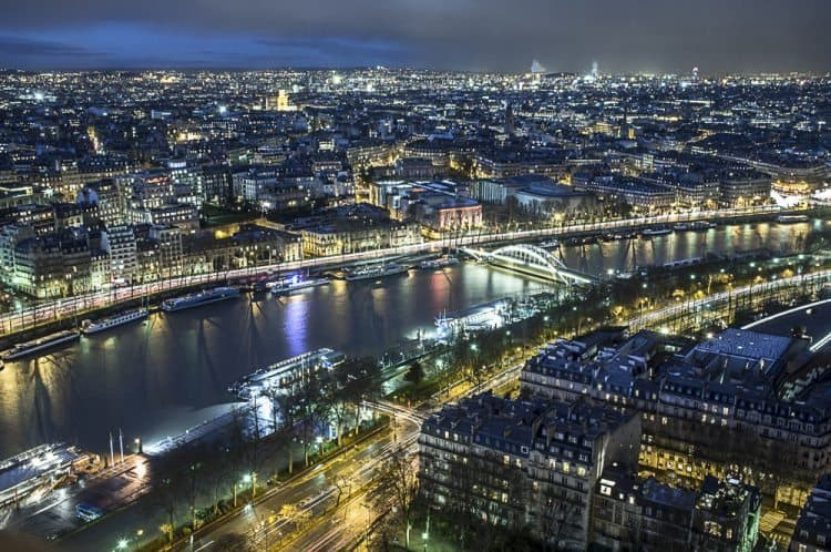 Paris, from the top of the Eiffel Tower.