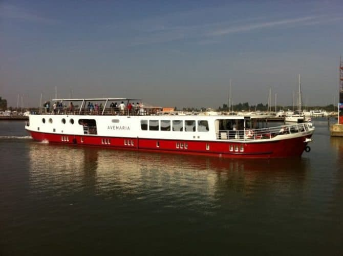 The Ave Maria is a 41 meter boat that comfortably accommodates 40 travelers.