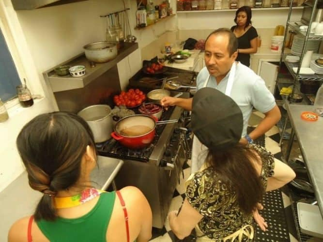 Being schooled by Oscar at the Casa Crespo cooking school