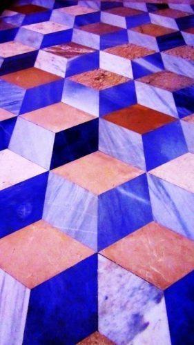 Chapel floor inside San Juan de los Reyes.