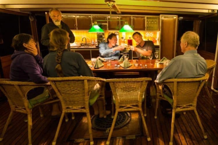 Dinner gathering aboard the Westward Sea of Cortez BCS Lauren Buchholz