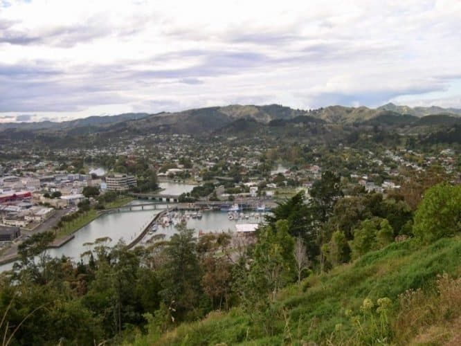 Gisborne from Kaiti Hill