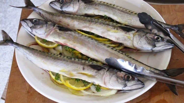 Local mackerel ready to grill...perfect!