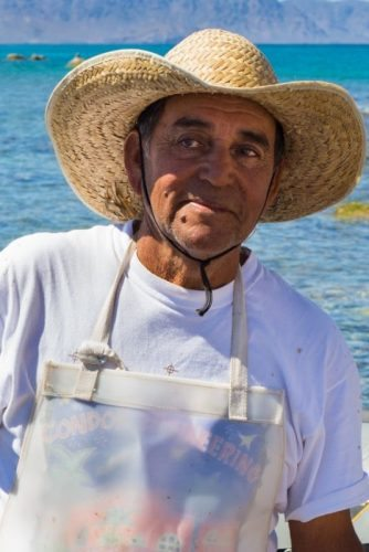 Pablo resident of Isla Pardito fishing village Sea of Cortez BCS Lauren Buchholz