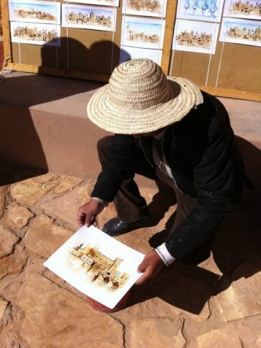 An artist on the road in Morocco. Leslie Patrick photos.