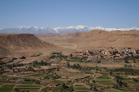 The High Atlas mountains in Morocco. Leslie Patrick photos.