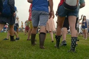 Boots at the fest.