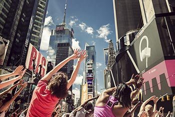New York City: Yoga in Times Square
