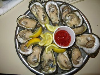 Oysters from Felix's.