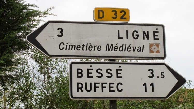 Roadsigns in Charente, France