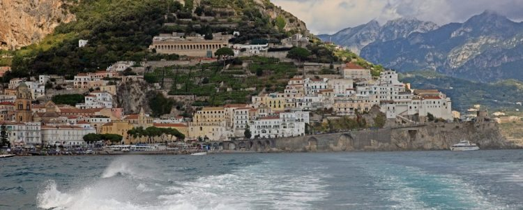 View from the little boats that ferry travelers to Capri and Positano from the Amalfi Coast. Janis Turk photo.