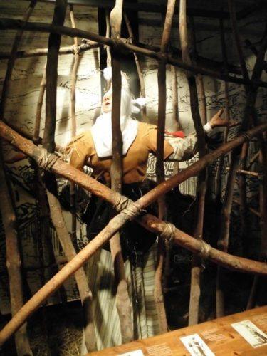 A witch in the Museum of Witchcraft in Zugarramurdi.