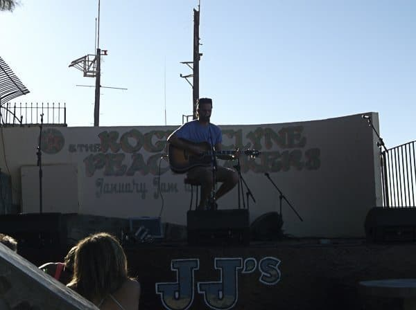 A live performance.