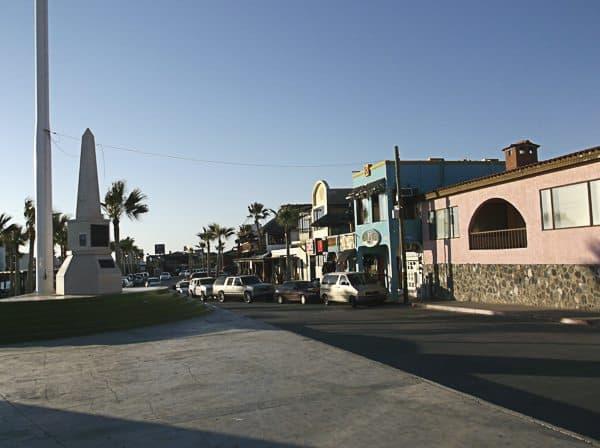 The downtown strip.