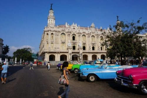 A Typical Site in Havana. Goats on the Road photos.