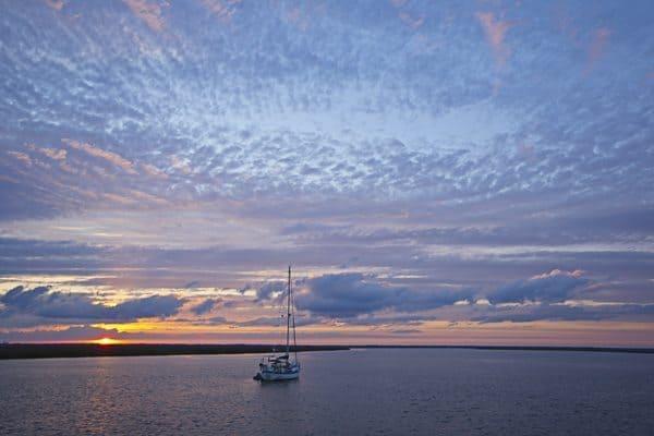 Coastal Georgia sunset. Herb Hiller photos.