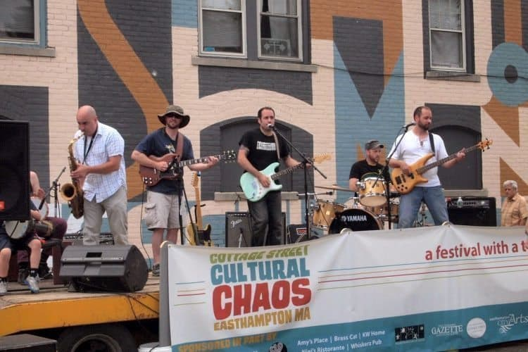 Music on the streets in June 2015, downtown Easthampton, Mass. Max Hartshorne photos.