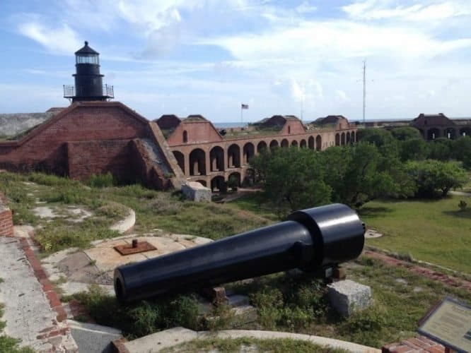 The third level of Fort Jefferson, a massive coastal fortress. Terri Clemmons Photos.
