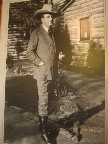 Photograph of Frank Phillips in Woolaroc lodge