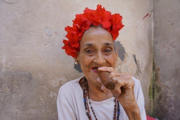 The cigar lady in Havana. Nick Wharton photo.