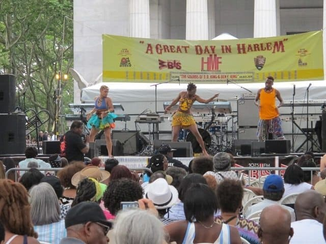 A Great Day in Harlem, Grant's Tomb, Riverside Park,  the opening event for the annual Harlem Week celebration of African-American  culture.