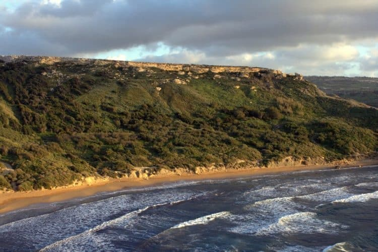 Ghajn Tuffieha beach in Malta.