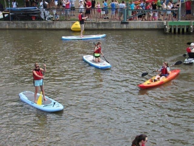 paddleboarding james river