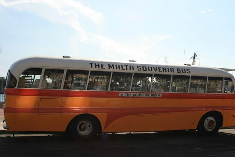 Souvenir shop bus in Malta.
