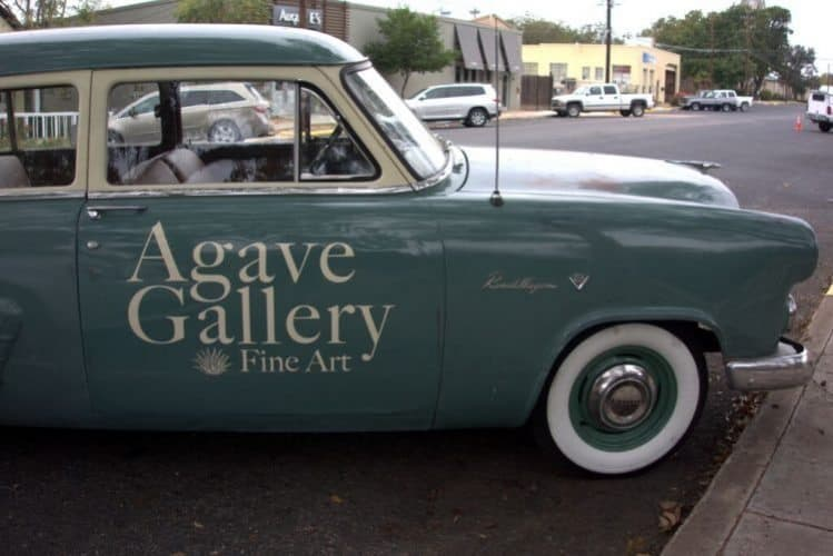A vintage car at the Agave Gallery.