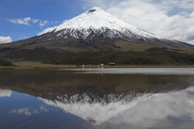 Cotopaxi, at 19,347 feet, one of the world's tallest active volcanoes, in Ecuador.