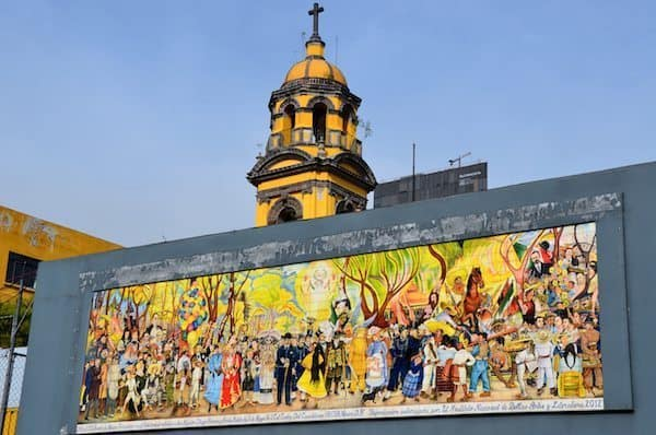 Mural at the Zocalo.