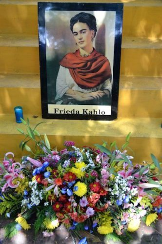 Frida Kahlo memorial in Mexico City.